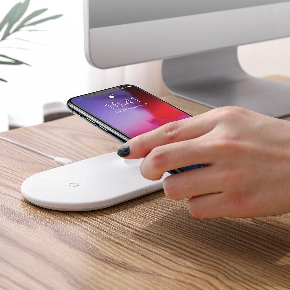 Baseus ładowarka indukcyjna Apple Watch iPhone 2w1