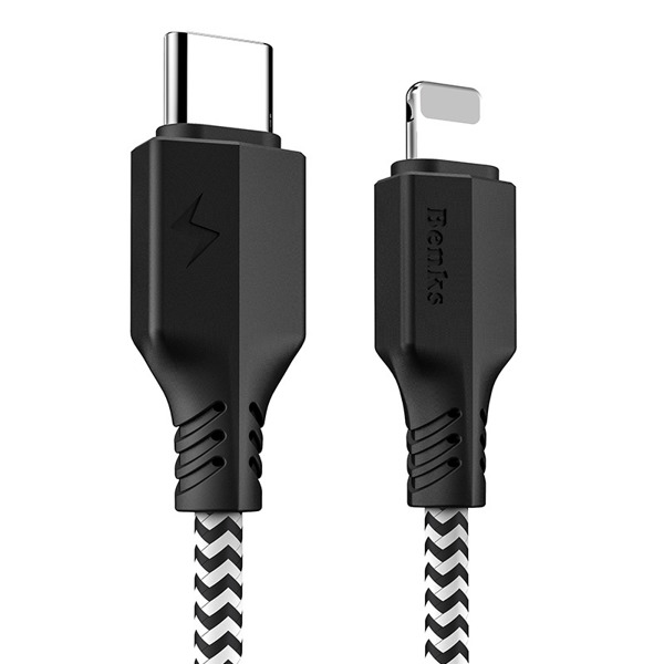 BENKS KABEL USB-C Lightning 120 CM iPhone 6 7 8 X