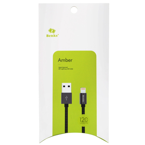Benks AMBER MFI kabel USB lightning do Apple iPhone 5 5S 6 6S 7 / 120cm