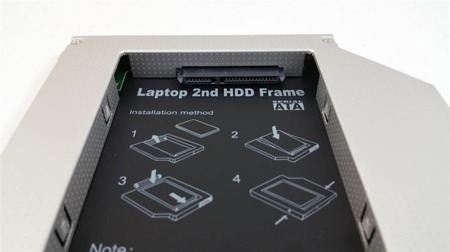 "Kieszeń na dysk do laptopa 12,7mm (IDE) na drugi HDD SSD 2,5"" Uniwersalna"
