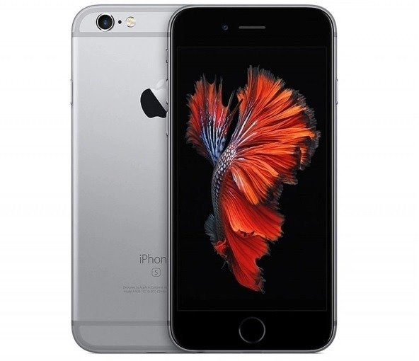 Oryginalny Apple iPhone 6S / 128GB / Gwiezdna Szarość (Space Gray) / Klasa A+